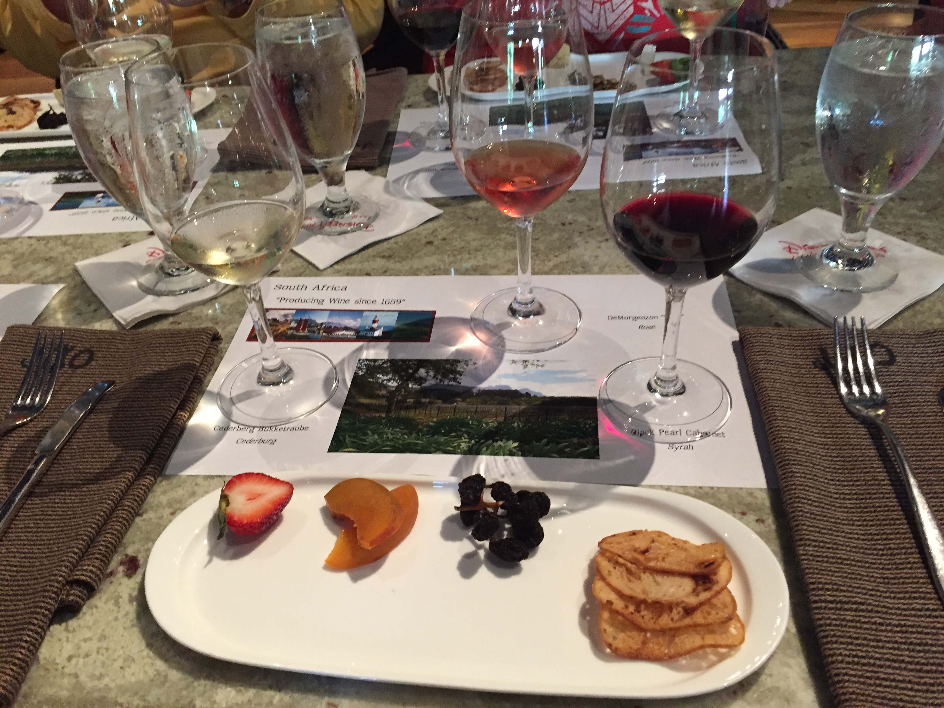Jiko Wine Tasting at Disney World. Learn about South African wines! #disneyworld #wine #travel