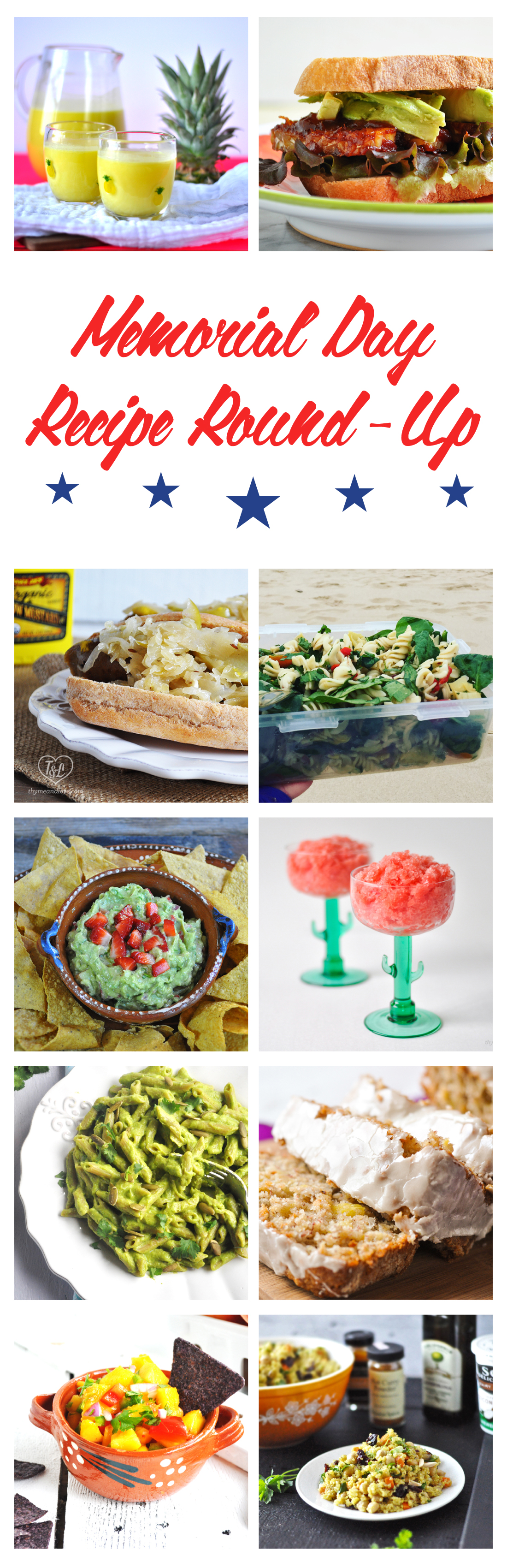 Recipes perfect for your Summer BBQ, picnic, or potluck! A wide range of crowd pleasing recipes. #memorialday #summer #bbq
