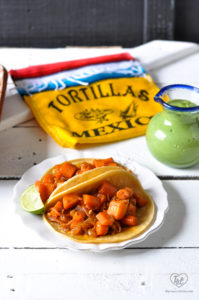 Make these Carrot Tacos for your next taco night! #tacos #vegan #plantbased