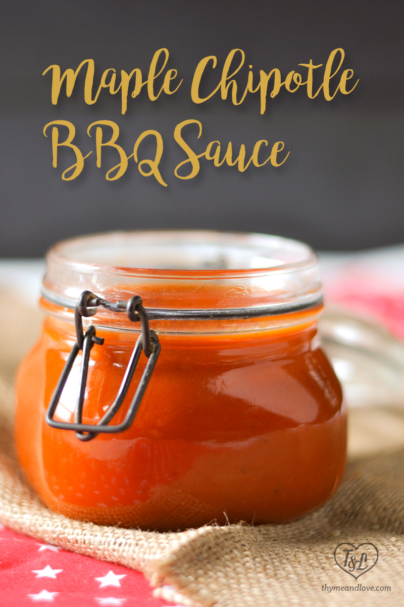 Sweet and tangy BBQ sauce with a little spicy kick is perfect for all your summer BBQ plans. #summer #bbq