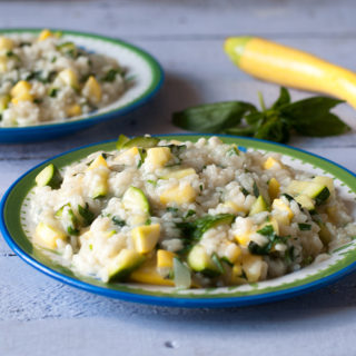 Zucchini and Summer Squash with fresh herbs. Perfect entree for summer! #vegan #summer #zucchini