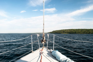 Mackinac Island Travel Tips: take a sail ride with Sail Mackinac for a unique way to see the island!