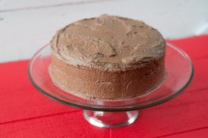 Vegan Mexican Chocolate Cake with chocolate buttercream frosting. #vegan #dessert