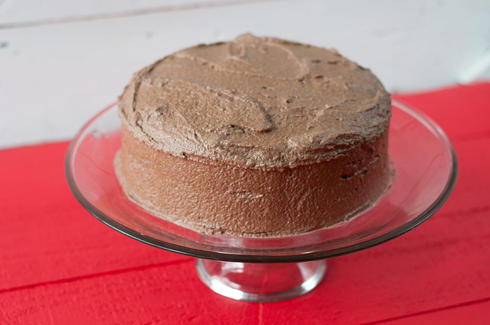 Vegan Mexican Chocolate Cake with chocolate buttercream frosting. #vegan #dessert
