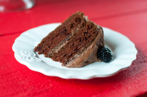 Vegan Mexican Chocolate Cake made with avocado! Topped with a buttercream frosting. #cake #vegan