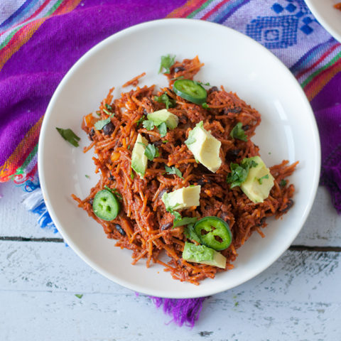 Vegan Chorizo Noodle Casserole. An easy weeknight meal that is a crowd pleaser. #vegan #casserole
