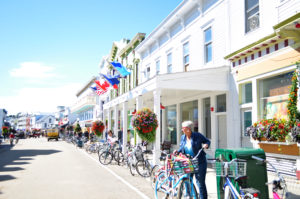 Lots of great shops and restaurants on Mackinac Island.
