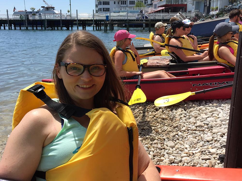 Mackinac Island Kayak Tour: a fun activity that is a must do on Mackinac Island! Great Turtle Kayak Tours do an amazing job! #mackinac #michigan