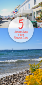 5 Awesome things to do on Mackinac Island! There is so much to do on the island, but these are my favorite things to do when traveling to Mackinac Island! #travel #michigan #midwest