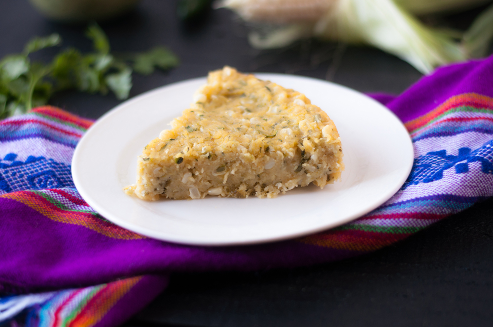 Zucchini Corn Tamal Casserole: get all the comfort of Mexican tamales but without all the work of assembling the tamales in husks! #veganmexican #tamales #casseroles