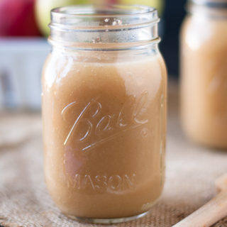 Homemade Unsweetened Applesauce with Apple Cider