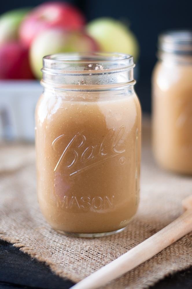 Homemade Unsweetened Applesauce with Apple Cider. Simple and easy to make!