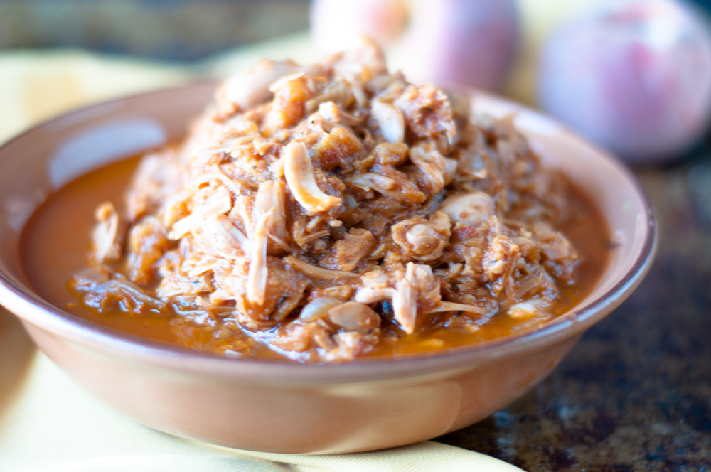 Slow Cooker BBQ Peach Jackfruit