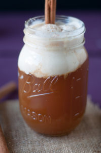A sweet fall beverage. You'll love these easy to make Apple Cider Floats!