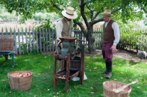 Making apple cider during the Fall Flavors Weekend at Greenfield Village.