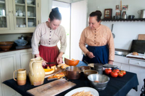 Traditional American cooking demonstration during Fall Flavors Weekend at Greenfield Village