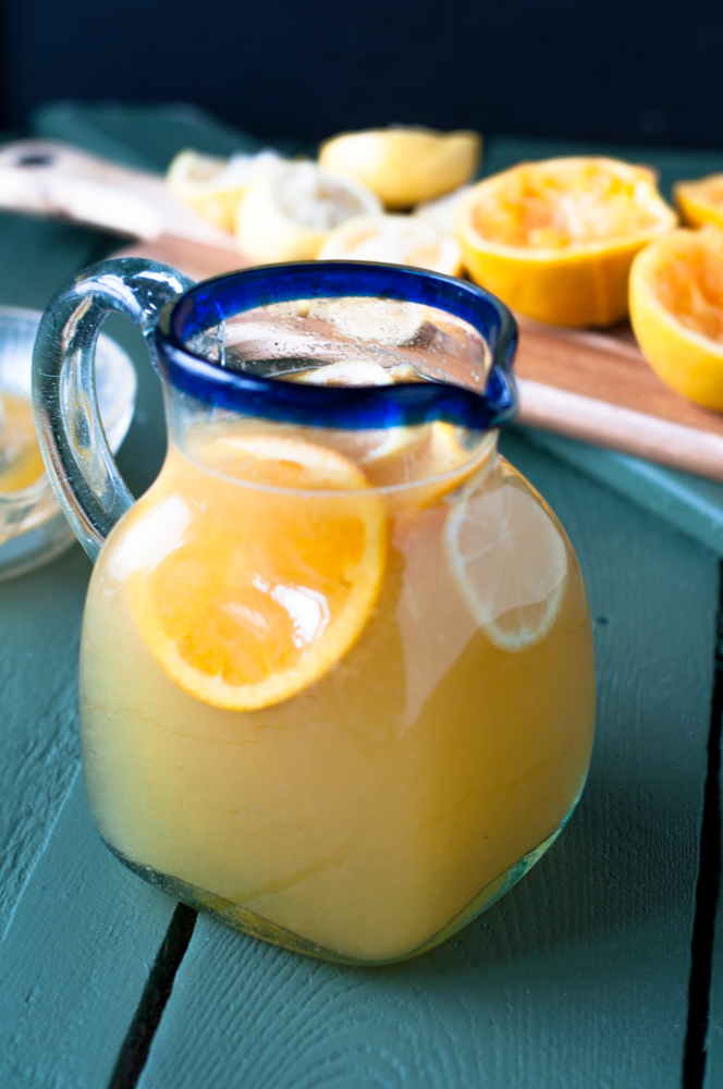 Ginger Punch with freshly squeezed lemon and orange juice has the perfect balance of sweet and tart.