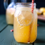 Ginger Punch with freshly squeezed lemon and orange juice.