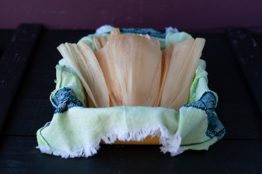 Corn Husks are the base for steamed Mexican Tamales.