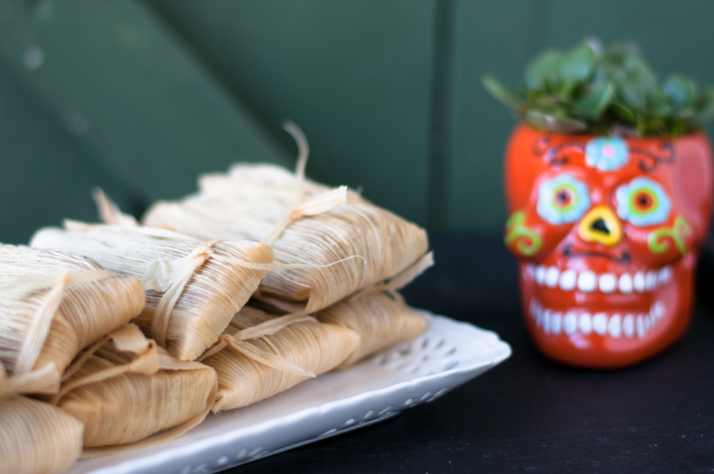 Vegan + GF Pumpkin Pie Tamales make a great dessert option for Dia de los Muertos or Thanksgiving!