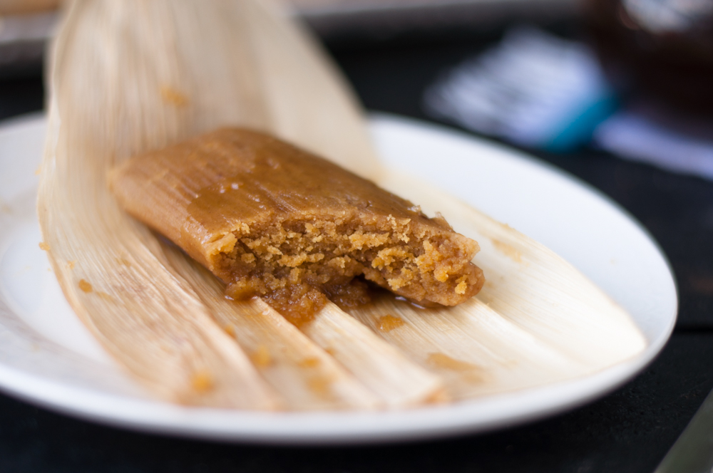 Pumpkin Pie inspired Mexican sweet tamales recipe. Perfect for serving for Thanksgiving or Dia de los Muertos