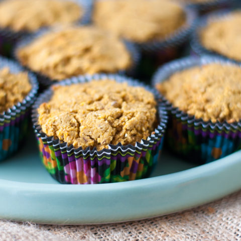 Fall inspired Pumpkin Maple Cornbread Muffins are bursting with fall flavor and they are vegan and gluten-free!