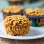 Fall inspired pumpkin maple cornbread muffins. Moist, a touch of pumpkin flavor and a touch of sweetness from maple syrup. #vegan #glutenfree