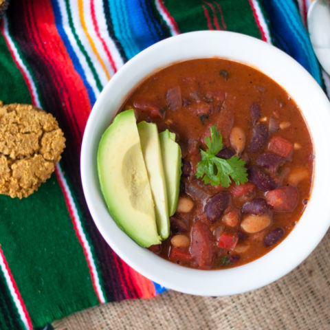 Homemade Vegan Chili is perfect for those chilly, fall evenings when the air gets a little crisp.