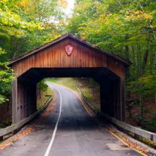The covered bridge along the Pierce Stocking Scenic Drive at Sleeping Bear Dunes. #puremichigan #travel