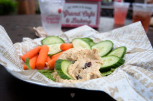 Cherry Hummus at the Grand Cafe at the Cherry Republic in Glen Arbor Michigan