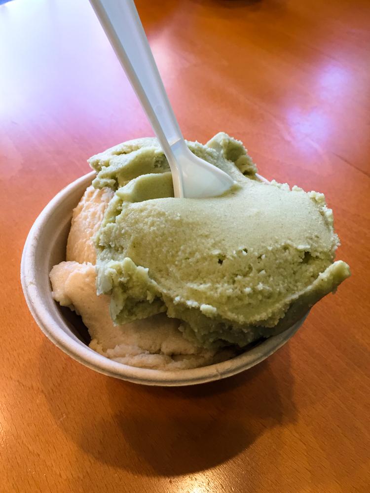 Vegan Ice Cream at Milk & Honey in Traverse City, MI. #vegan #travel