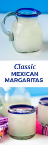 Classic Mexican Margaritas are a crowd pleaser. Perfect for your serving at your next fiesta. This margarita recipe has become a family favorite! #mexican #margarita