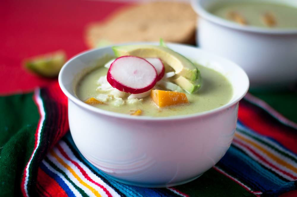 Butternut Squash Green Pozole. A vegan spin on the traditional Mexican Pozole. #vegan #mexican