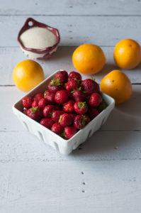 Orange Strawberry Agua Fresca