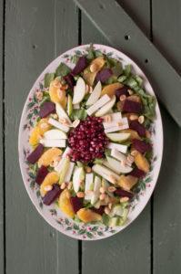 Mexican Christmas Eve Salad {Ensalada de Noche Buena}. A festive salad for your holiday table.