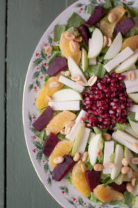 Mexican Christmas Eve Salad: a light and healthy salad that's traditionally served in Mexico during the holidays.