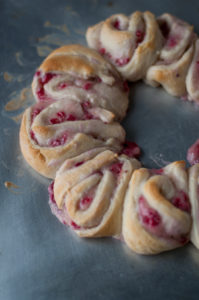 Raspberry Lemon Crescent Roll Ring is perfect for holiday entertaining.