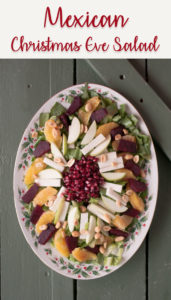 Mexican Christmas Eve Salad is a traditional salad served in Mexico during the holidays. #Salad #healthyrecipes #vegan #glutenfree #veganrecipes #Christmas #holiday #healthyfood