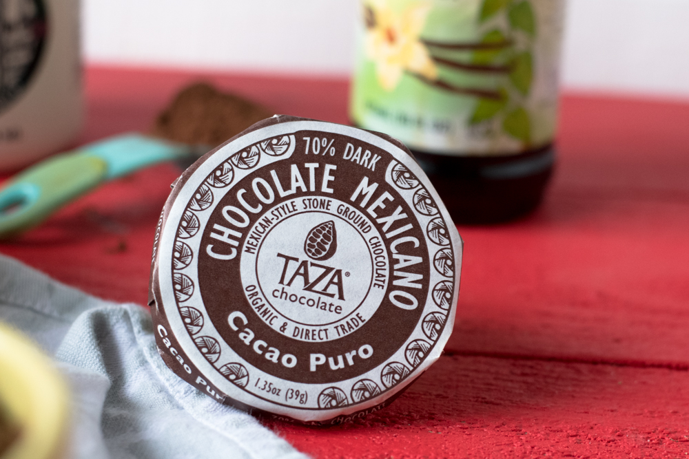 Taza Chocolate melts beautifully in this rich, chocolate steel cut oatmeal. Who says you can't have chocolate for breakfast?!