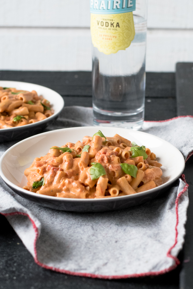 Creamy Vegan Penne alla Vodka is the perfect cozy date night meal at home. #vegan #pasta