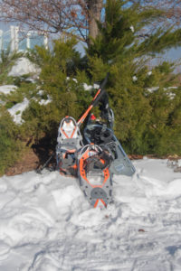 Snowshoeing is a great way to get outdoors this winter. #fitness #winter