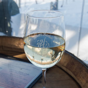 Snowshoe Wine & Brew Tour in Traverse City. This is a fun, unique way to do a wine tasting! #wine #michigan