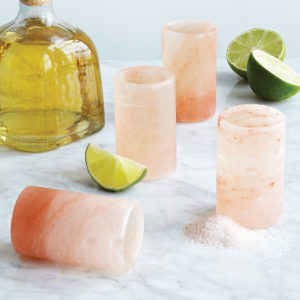 Himalayan Salt Tequila Glasses- Set of 4 from Uncommon Goods