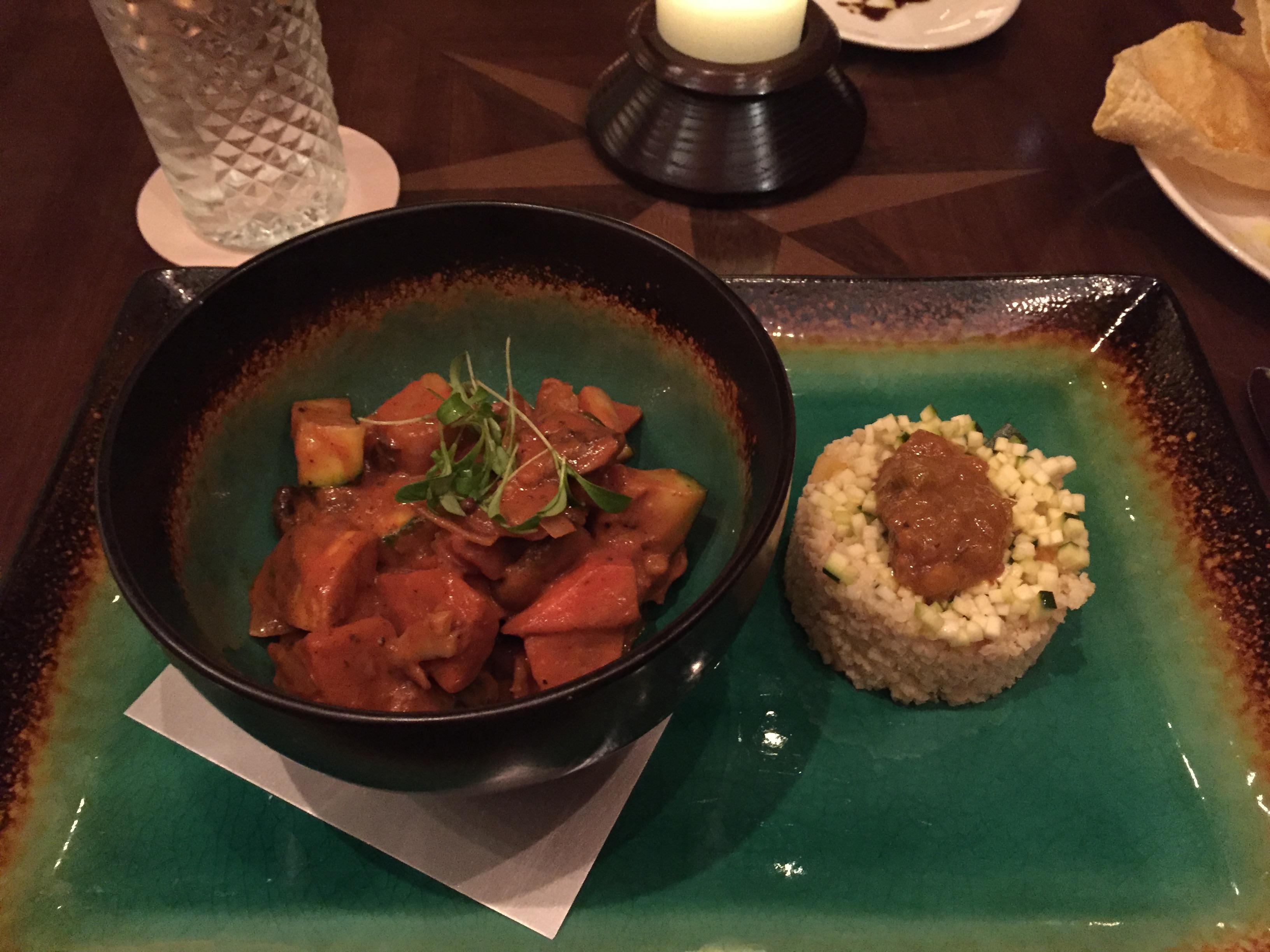 Vegan dining options at Tiffins at Disney's Animal Kingdom