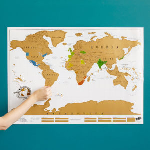 This Scratch Map is the perfect gift for the traveler in your life!