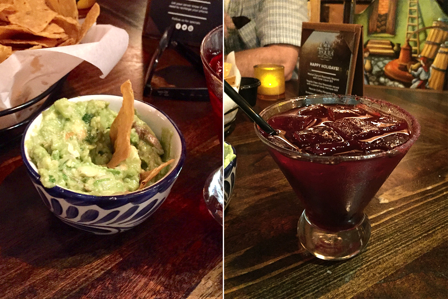 Some of the best guacamole served at La Cava del Tequila inside Epcot's Mexico pavilion. The margaritas can't be beat either! So good!