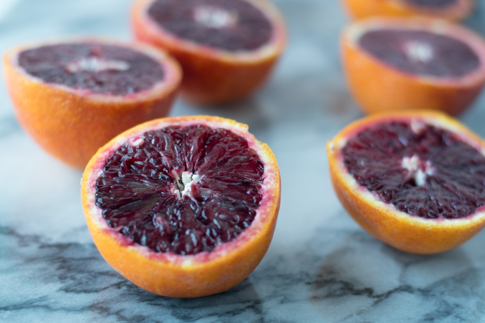 Blood Oranges makes for a bright, creamy winter sherbet that is perfect for Valentine's Day!