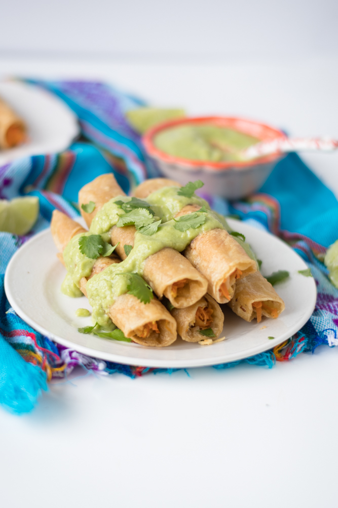 Vegan Carrot and Parsnip Taquitos. A filling and satisfying plant-based taco filling!