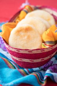 Venezuelan inspired tofu scramble stuffed inside warm arepas. Perfect for breakfast or brunch!