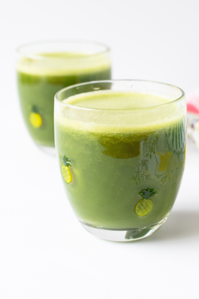 This pineapple green smoothie is light, refreshing and perfect served anytime of day.